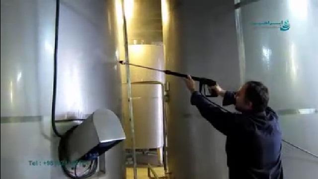 شستشوی مخازن در صنایع غذایی با واترجت  - Wash the tanks in the food industry with high pressure washer