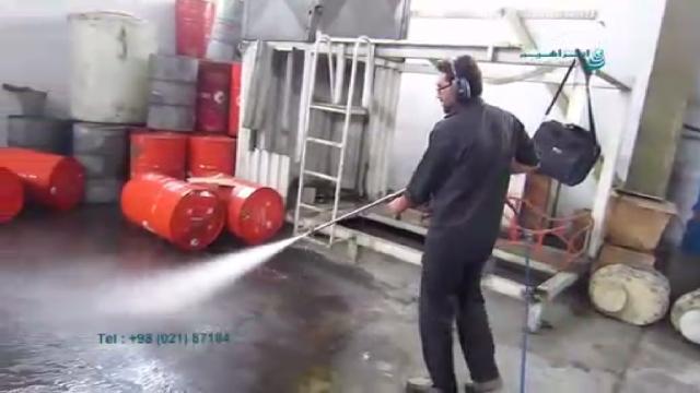 نظافت حرفه ای با دستگاه واترجت صنعتی  - perfect cleaning by high pressure washer
