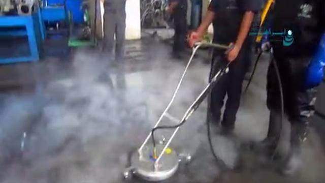 نازل زمین شوی کارواش دستی آب گرم  - Ground-level nozzle Hand-held hot water