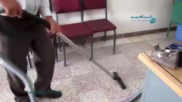 نظافت محیط ادارات بوسیله جاروبرقی  - cleaning the office by vacuum cleaner