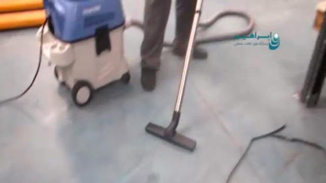 جمع آوری آلودگی محیط انبار بوسیله جاروبرقی   - Collect contamination of the storage area by vacuum cleaner