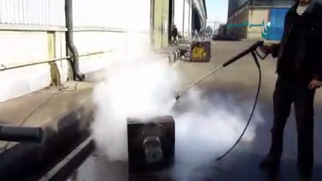 لایه برداری از تجهیزات صنعتی با واترجت  - Peeling of industrial equipment by high pressure