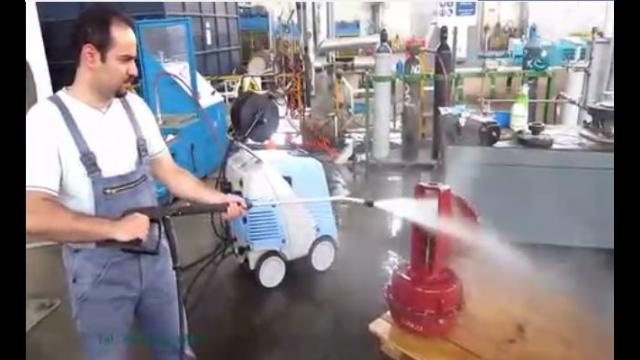جرم زدایی از قطعات صنعتی با واترجت   - Decontamination of industrial parts by pressure washer