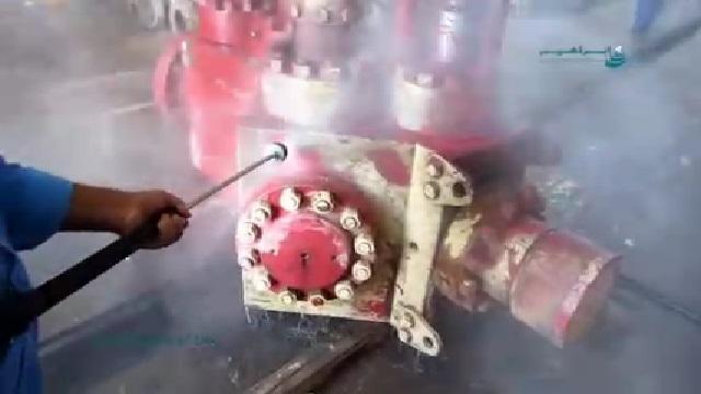 کاربرد واترجت در شستشوی تجهیزات  - Use high pressure washer in washing equipment