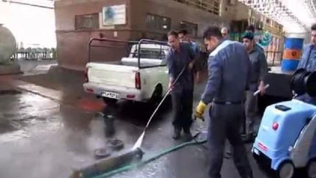 شوینده پرفشار برای شستن تجهیزات روغنی  - Pressure washer- washing oil Equipment