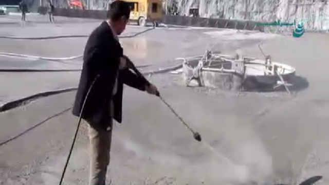 شستشوی سطح بتنی با واترجت صنعتی  - cleaning of concrete surfaces by high pressure cleaner