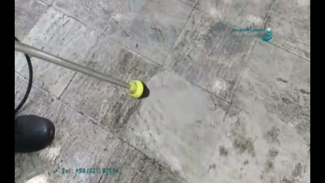از بین بردن آلودگی سطوح با استفاده از شوینده فشار قوی  - removing dirts from surfaces using high-pressure washer