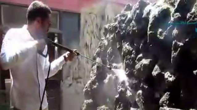 شستشوی آب نما با واترجت  - Waterfront washing  by high pressure cleaner