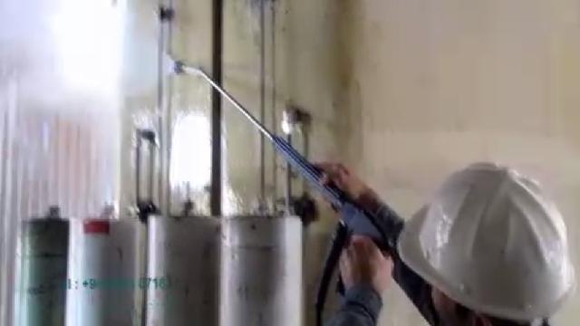 شستشوی تاسیسات صنعتی با کارواش آب گرم  - Industrial plants washing hot high pressure