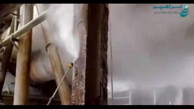 لایه برداری فلزات با واترجت  - Peeling metals by high pressure cleaner