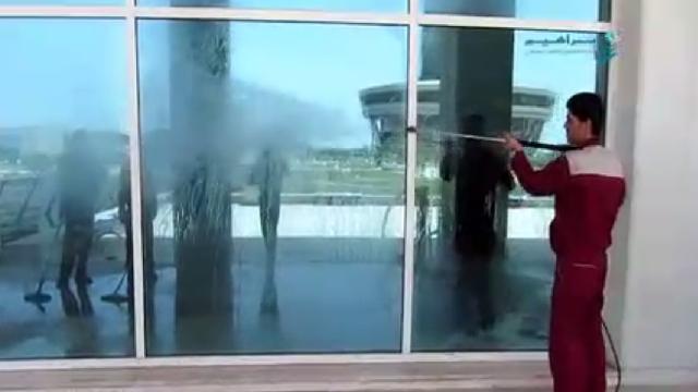 شستشوی نمای ساختمان با واترجت  - facade Cleaning- high pressure washer