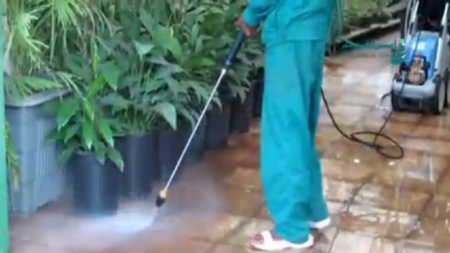 شستشوی محیط گلخانه با کارواش صنعتی  - cleaning Greenhouse environment by high pressure washer