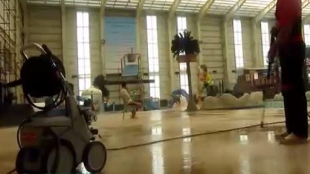 نظافت اماکن تفریحی با واترجت  - cleaning Sportful places by high pressure washer
