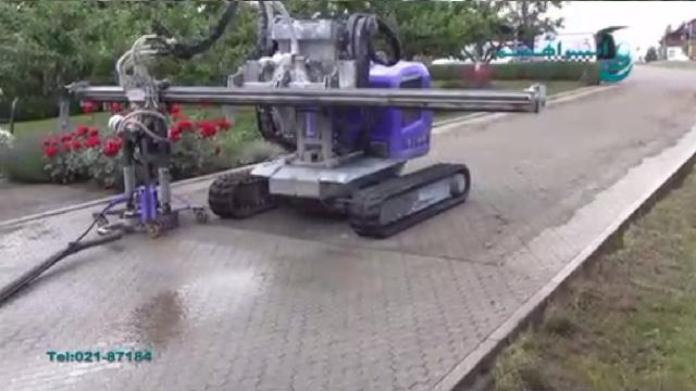 شستشوی پیاده رو و خیابان با واترجت صنعتی  - Wash pavement and street with high pressure washer