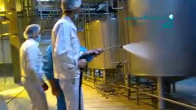 نظافت صنایع غذایی با واترجت  - use a pressure cleaner for Food-industry-cleaning
