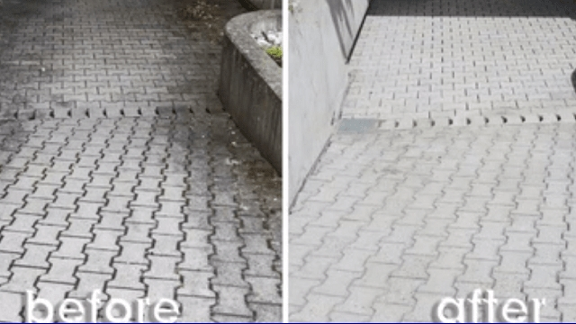 شستشوی موثر سطوح بتنی با دستگاه واترجت  - Effective washing of concrete surfaces with pressure washer