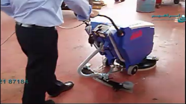 استفاده از اسکرابر در شست و شوی کفپوش خودروسازی  -  cleaning the floor of automobile manufacturing by scrubber drier