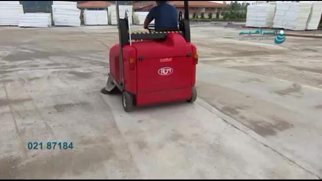 نظافت محیط در صنایع چوب بوسیله سویپر صنعتی  - cleaning the wood industry - industrial sweeper