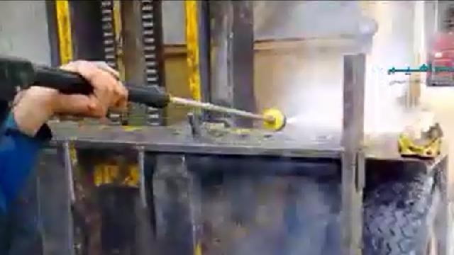 شستشوی ماشین آلات صنعتی با واترجت  - Wash equipment by pressure washer