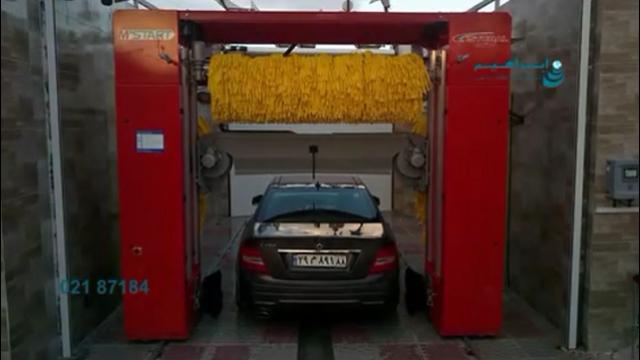 مکانیزم عمل دستگاه کارواش تمام اتوماتیک دروازه ای (ریلی)  - Automatic Car Wash Machine Rail device (rail)