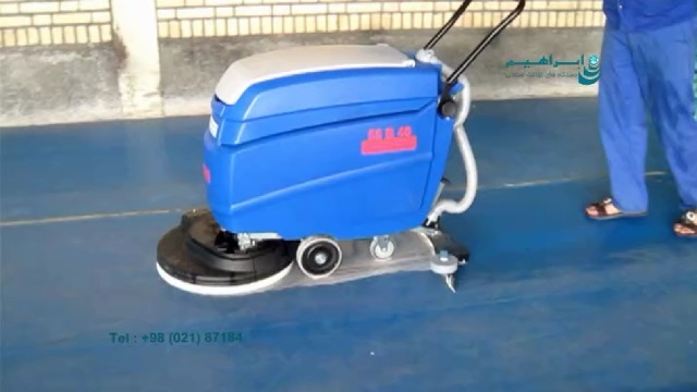 کفشوی سالن ورزشی  - scrubber dryer for cleaning the sport hall