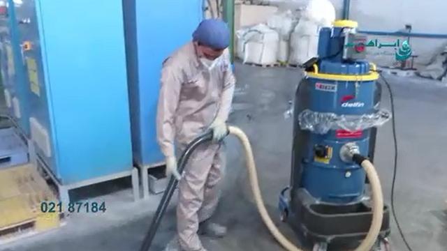 فیلتراسیون قدرتمند در دستگاه های مکنده صنعتی  - Powerful suction filtration in industrial vacuum cleaners