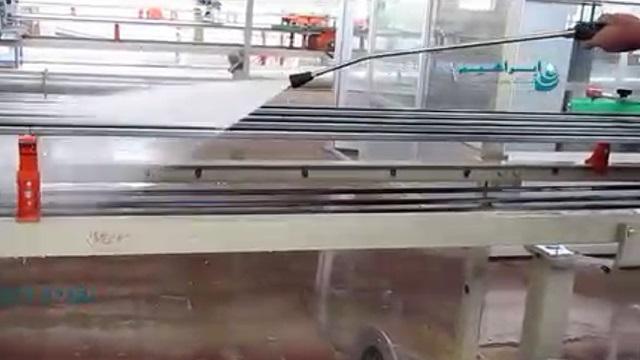 شستشوی تجهیزات در صنایع کاشی و سرامیک بوسیله واتر جت  - cleaning the machinery in Ceramics industry by pressure washer