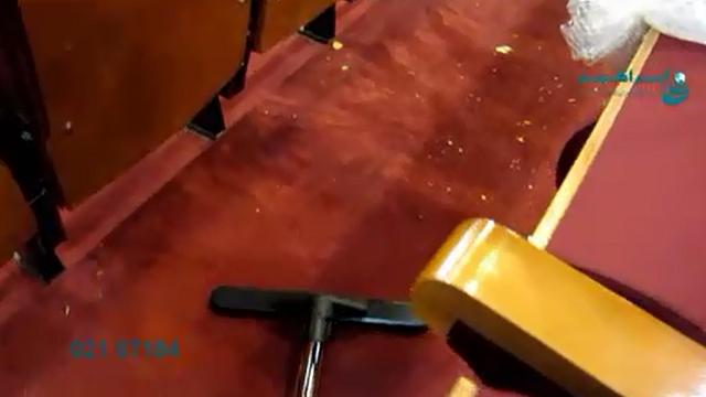نظافت فرهنگسرا با جاروبرقی  - Cultural center cleaning with vacuum cleaner