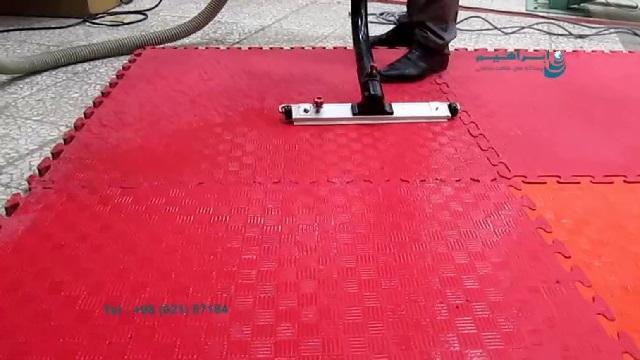 نظافت تاتامی با جاروبرقی  - vacuum cleaner - tatami
