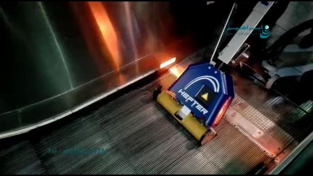 شستشوی ایمن و موثر پله برقی با دستگاه پله برقی شوی  - use a ESCALATOR CLEANER