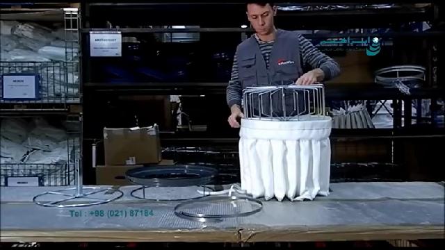 چگونگی تعویض فیلتر پلی استر ستاره ای مکنده  - How to change the star filter on industrial vacuum cleanerr