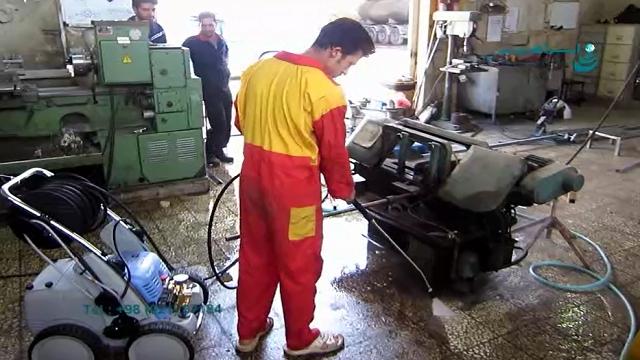 استفاده از واترجت صنعتی دستگاه کارواش فشار قوی جهت از بین بردن آلودگی های روغنی  - Use of industrial waterjet industrial to eliminate oily contamination