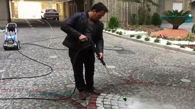 جرم گیری سنگ فرش معابر با استفاده از واترجت صنعتی  - Crushing of road paving using industrial waterjet