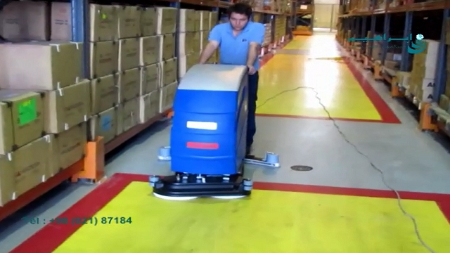 زمین شوی صنعتی راهکاری مناسب جهت نظافت انبارها   - Industrial scrubber is a good way to clean warehouses