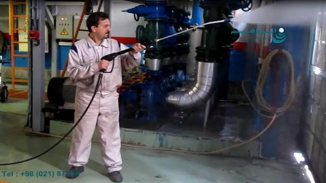 کارواش فشار قوی دستگاه مناسب شستشوی تجهیزات کارخانه  - high presure washer for cleaning industrial equipment