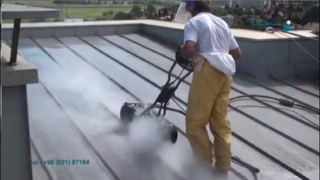 شستشو و لایه برداری سطوح فلزی با واترجت صنعتی  - peeling and cleaning of metal with ultra high pressure