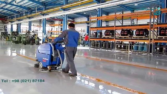 استفاده از اسکرابر شیوه ای کارآمد جهت شستشوی اپوکسی  - The use of scrubbers is an efficient way to wash epoxy flooring