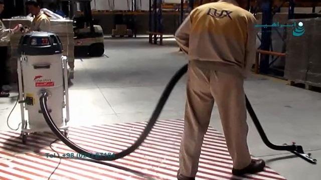 نظافت موضعی سطوح کف در محیط های صنعتی با جاروبرقی   - Local surface cleaning of floor surfaces in industrial areas with vacuum cleaners