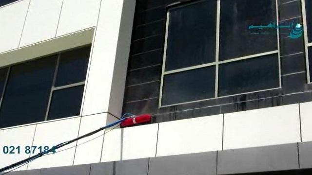 نماشویی ساختمان های مرتفع  - facade cleaning