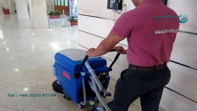 شستشوی کف در ساختمان های اداری   - Floor washing in office buildings