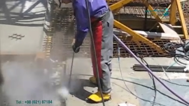 تخریب بتن مسلح با واترجت  - Demolition of reinforced concrete with a water jet
