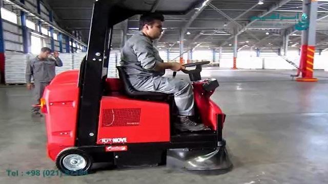 نظافت انبار با سوییپر خودرویی  - Warehouse Cleaning with sweeper