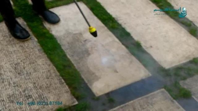 عملکرد واترجت صنعتی با نازل دوار  - Industrial water jet with rotating nozzle