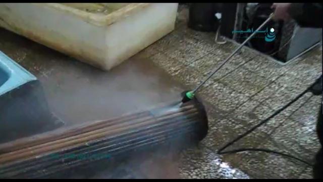 شستن تاسیسات و تجهیزات موتور خانه با واترجت صنعتی  - pressure Washing equipment and machinery