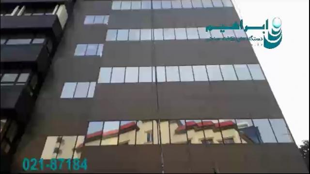 شستشوی نما با دستگاه نماشوی مجهز به برس موتور دار  - facade cleaning with rotating brush