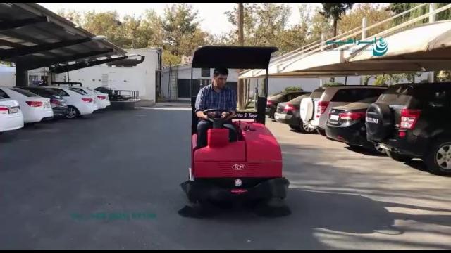 نظافت محوطه مراکز اداری با دستگاه سوییپر خودرویی  - area cleaning - sweeper