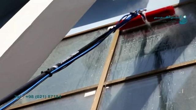 شستشوی نمای هتل با دستگاه نماشوی  - Wash the hotel's facade with the facade cleaning equipment
