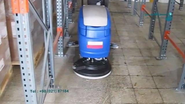 کفشوی نظافت انبار   - scrubber dryer - warehouse