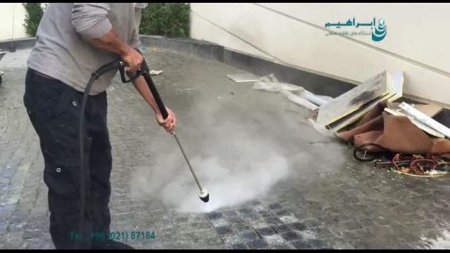 بکارگیری واترجت برای شستن سطوح کف  - pressure washer - floor cleaning