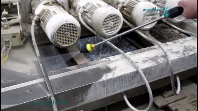 شستشوی تاسیسات صنایع سرامیک با واترجت صنعتی  - equipment cleaning - pressure cleaner